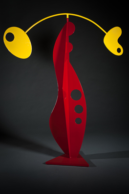 abstract, contemporary, free standing, kinetic, powder coated steel, sculpture