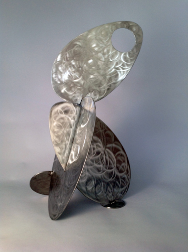 abstract, contemporary, tabletop, stainless steel, sculpture